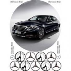 Вафельная картинка A4 Автомобиль Mercedes S600