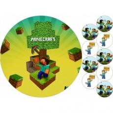Вафельная картинка A4 Minercraft 3