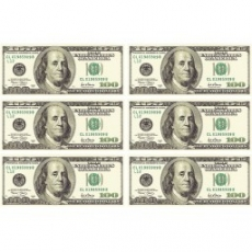 Вафельная картинка A4 100 Долларов США 6 шт