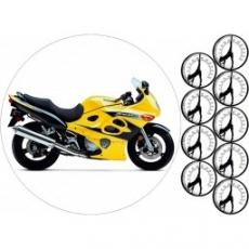 Вафельная картинка A4 Мотоцикл Сузуки
