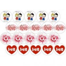 Вафельная картинка A4 Любовь 12