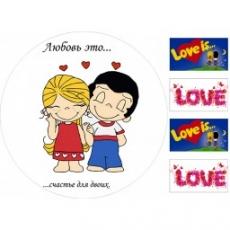 Вафельная картинка A4 Любовь 1
