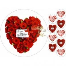 Вафельная картинка A4 День Св. Валентина 5