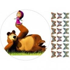 Вафельная картинка A4 Маша и Медведь 8