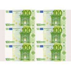 Вафельная картинка A4 100 Евро 6 шт