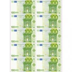 Вафельная картинка A4 100 Евро 10 шт