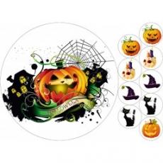Вафельная картинка A4 Хэллоуин 12