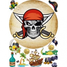 Вафельная картинка A4 Пиратская вечеринка