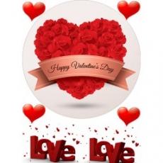 Вафельная картинка A4 День Св. Валентина 7