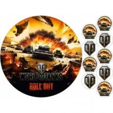 Вафельная картинка A4 World of Tanks