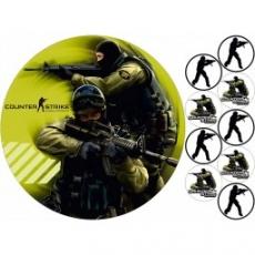 Вафельная картинка A4 Counter-Strike 2
