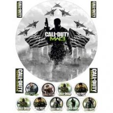 Вафельная картинка A4 Call of Duty