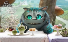 Сахарная картинка A4 Чеширский кот