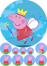 Сахарная картинка A4 Свинка Пеппа 2