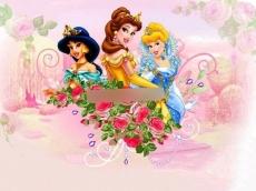 Сахарная картинка A4 Принцессы 7