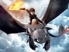 Сахарная картинка A4 Приручить дракона
