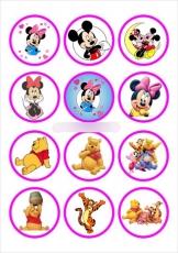 Сахарная картинка A4 Винни-Пух и Микки Маус