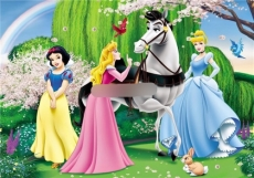 Сахарная картинка A4 Принцессы 1