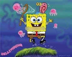 Сахарная картинка A4 SpongeBob 2
