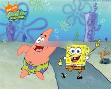 Сахарная картинка A4 SpongeBob 1