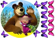 Сахарная картинка A4 Маша и Медведь 4