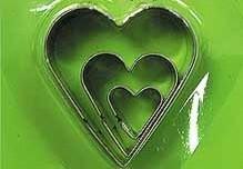 Набор каттеров Сердце 3 шт