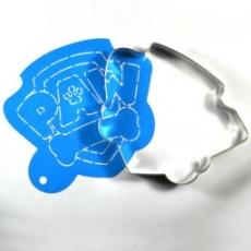 Набор каттер и трафарет Логотип щенячий патруль 12x9.5 см