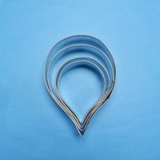 Каттер металлический Набор лепестков Розы 4 шт