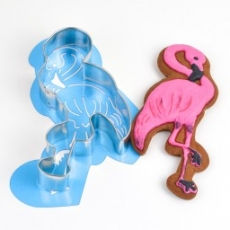 Набор каттер и контурный трафарет Фламинго 12х5 см